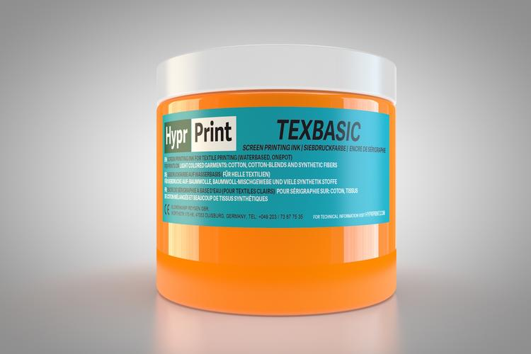Encre de sérigraphie HyprPrint TEXBASIC Orange néon